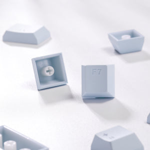 LavaCaps Double Shot PBT 104 Keycaps Set with Translucent Layer for Mechanical Keyboard - Macaron Blue