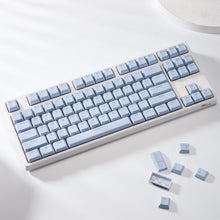 Load image into Gallery viewer, LavaCaps Double Shot PBT 104 Keycaps Set with Translucent Layer for Mechanical Keyboard - Macaron Blue