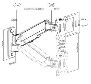 Tilting Bracket for Wall Mount Frames