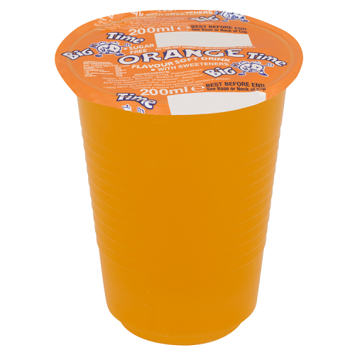 Big Time Orange Cup Drink 200ml