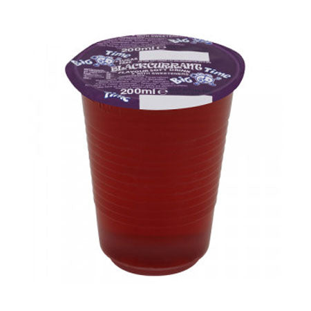 200ml cup of purple Blackurrant drink