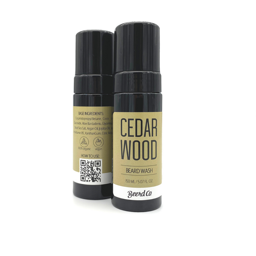 Cedarwood Premium Foaming Beard Wash - Beerd Co