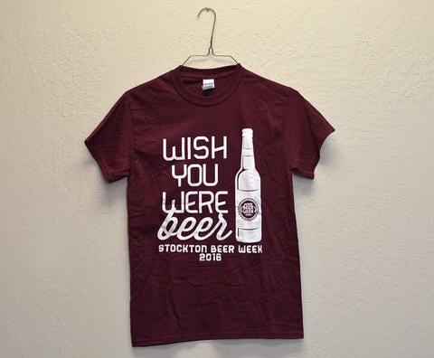"Stockton, CA - ""Stockton Beer Week 2016"" Tee"