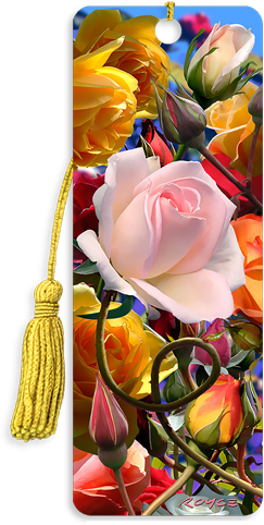 3D Bookmarks: Roses