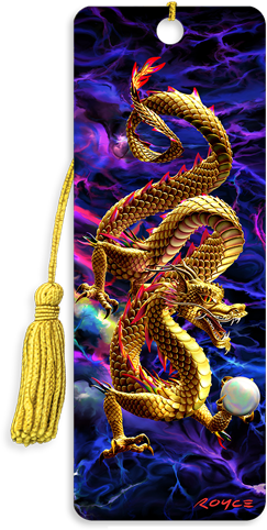 3D Bookmarks: Golden Dragon