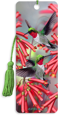 3D Bookmarks: Humming Birds