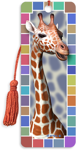 3D Bookmarks: Giraffe