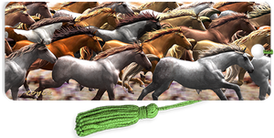 3D Bookmarks: Running Horses