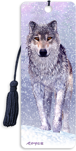 3D Bookmarks: Snow Wolf