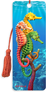 3D Bookmarks: Sea Horses