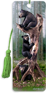 3D Bookmarks: Black Bears