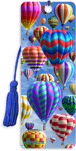 3D Bookmarks: Hot Air Balloons