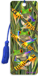 3D Bookmarks: Tree Frogs
