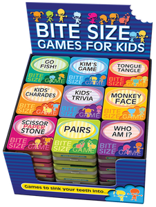Bite Size Games for Kids Display