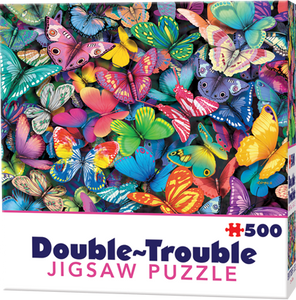 Double-Trouble Puzzle: Butterflies