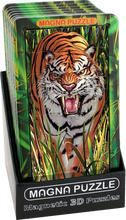 Load image into Gallery viewer, 3D Portrait Magna Puzzle: Tiger