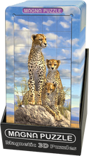 Load image into Gallery viewer, 3D Portrait Magna Puzzle: Cheetahs