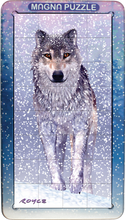 Load image into Gallery viewer, 3D Portrait Magna Puzzle: Snow Wolf