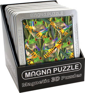 3D Magna Puzzles: Tree Frogs