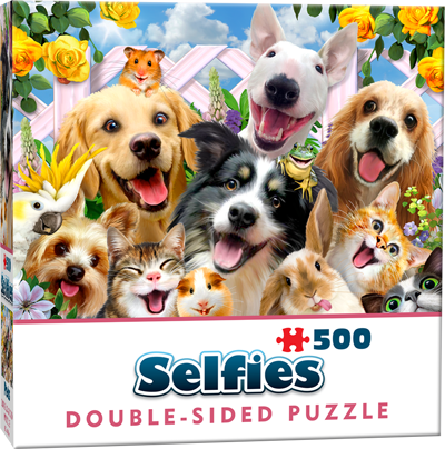 Double-Sided Selfie Puzzles: Buddies