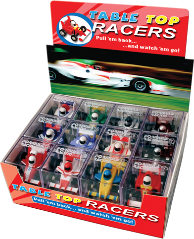 Table Top Racing Cars Display