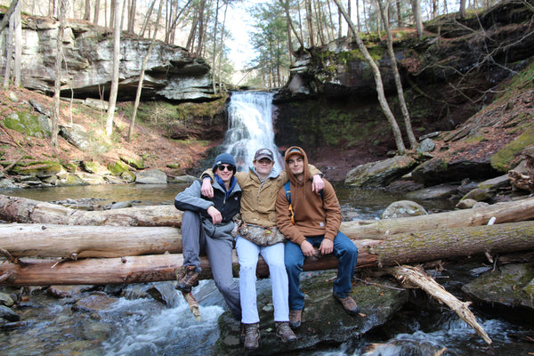 3/4 of the Living Now team at Sullivan Falls, PA.