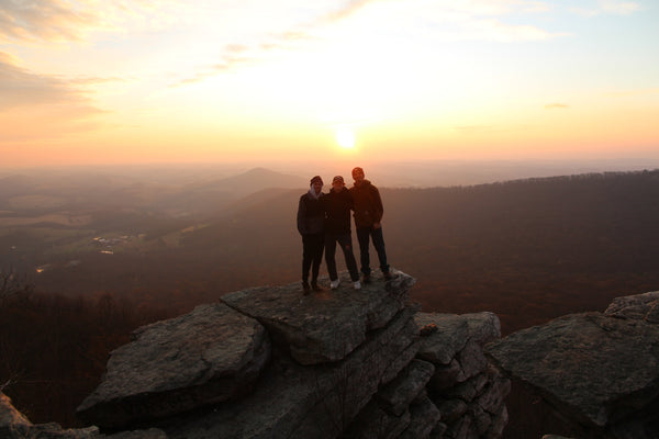 3/4 of the Living Now team at Pinnacle Overlook near Hamburg, PA.