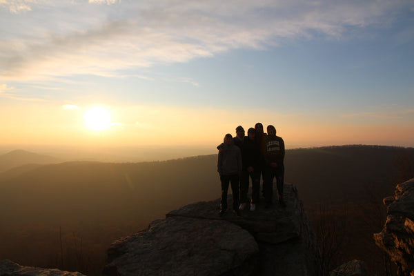 The Living Now team & guests for Day 2 of our fall break, pictured at Pinnacle Overlook along the Appalachian Trail.