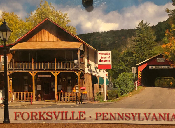 A postcard from the cozy town of Forksville, PA, just outside of Worlds End State Park.