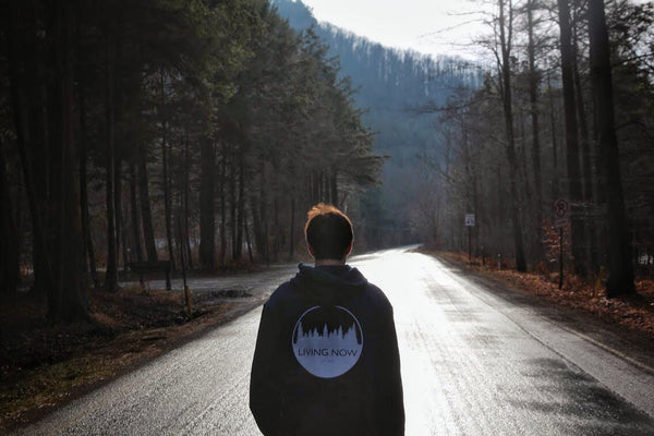 The Living Now Hoodies in Worlds End State Park