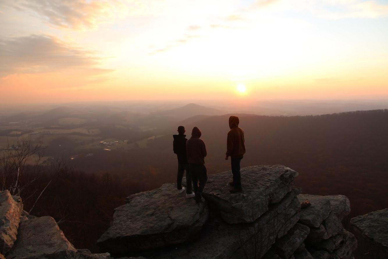One of the foundational moments of Living Now, atop Pinnacle Overlook along the Appalachian Trail.