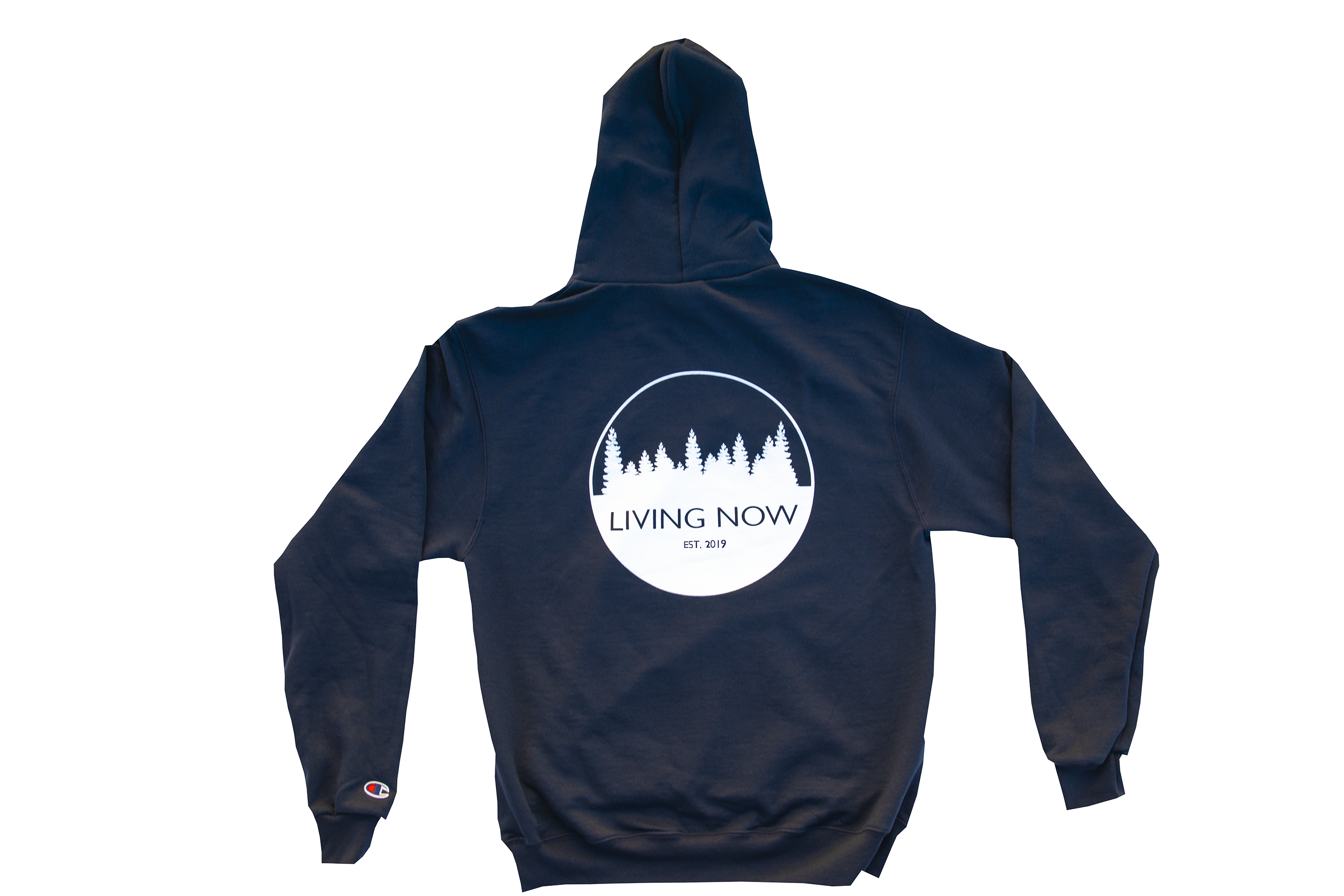Living Now Navy Hoodie Back