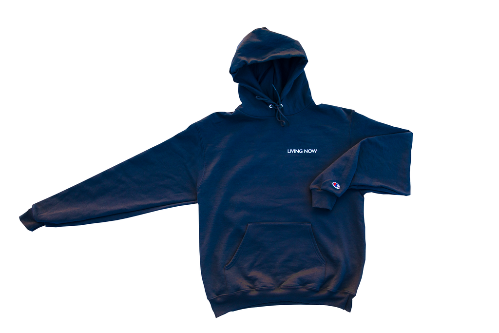 Living Now Navy Hoodie Front