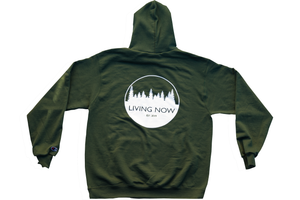 Living Now Forest Green Hoodie Back