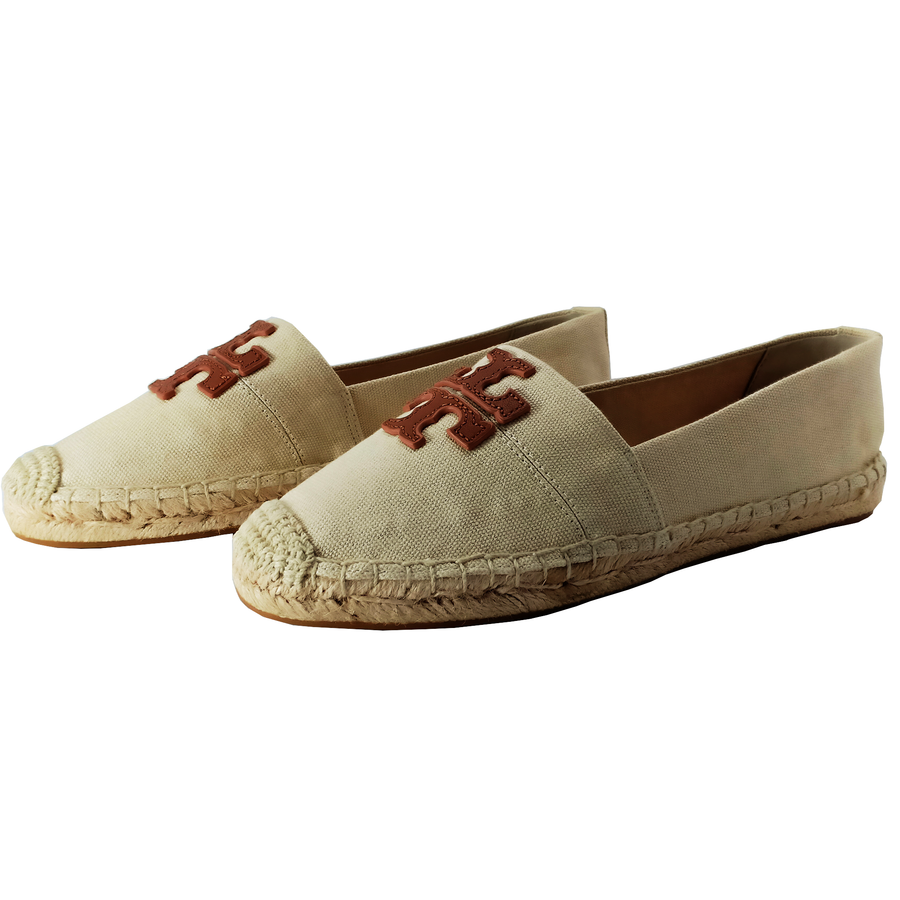 Tory Burch Royal Tan Weston Espadrille Flats