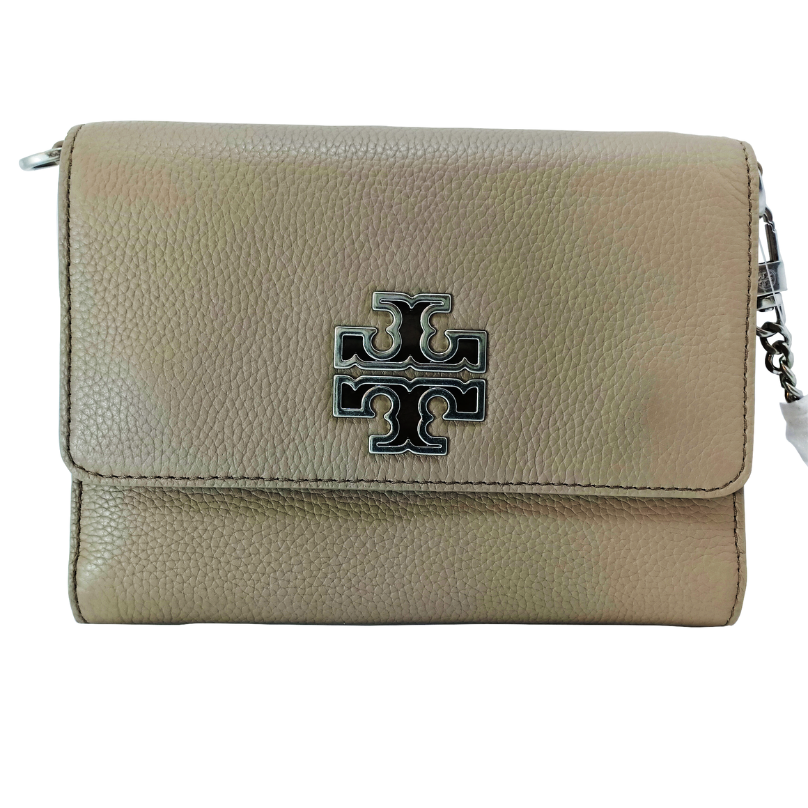 Tory Burch Britten Chain Wallet - French Gray