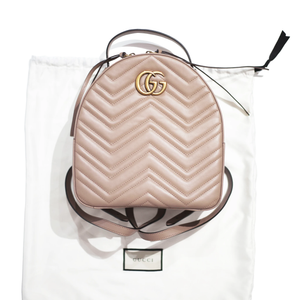 GUCCI GG Marmont Quilted Leather Backpack (Beige)