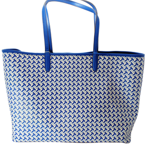 Tory Burch T Tile Link blue Tote