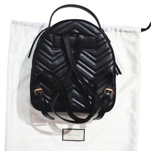 GUCCI GG Marmont Quilted Leather Backpack (Black)