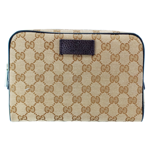 GUCCI GG canvas outlet GG canvas Waist bag beige Brown