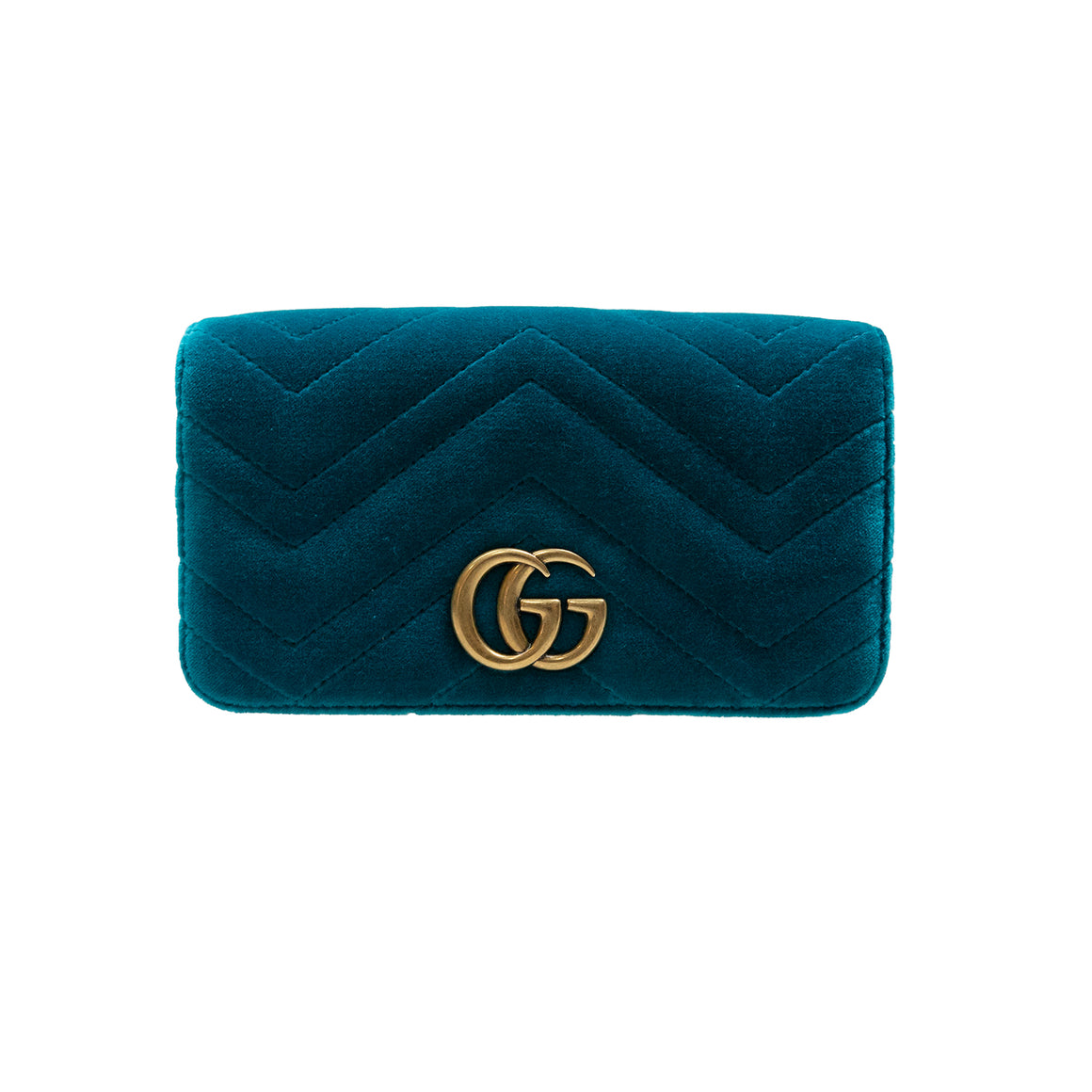 Gucci Marmont Chevron Clutch