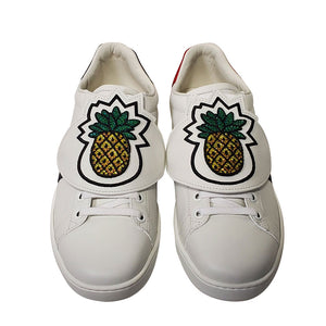 "Gucci Ace ""Pineapple"" Sneakers White Leather"