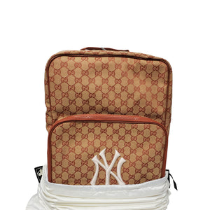 New York Yankee GG Supreme Canvas Backpack