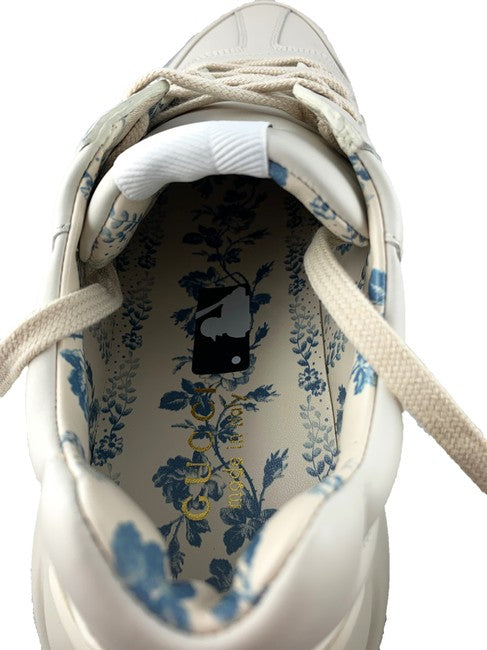Gucci White New York Yankees Rhyton Mystic Sneakers