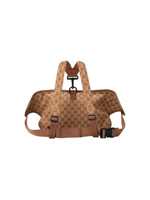 Gucci Belt La Angels Patch Beige Gg Canvas Weekend/Travel Bag