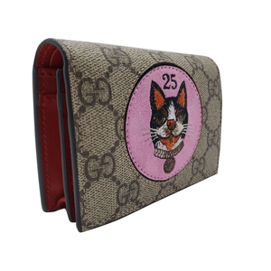 GUCCI GG Supreme card case wallet with Bosco patch