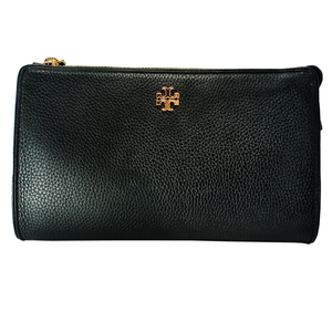 Tory Burch Carter Slim Black Leather Cross Body Bag