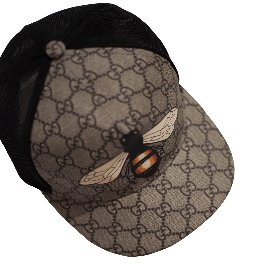 Bee print GG Supreme baseball hat