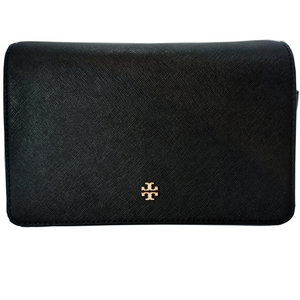 Tory Burch Emerson Combo Black Leather Cross Body Bag
