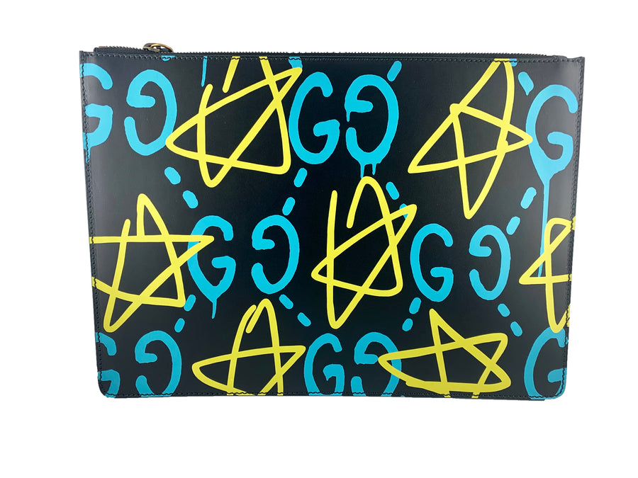 Black Gucci Ghost Apollo Stars Pouch